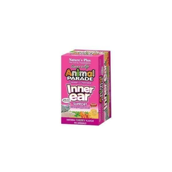 Animal Parade Inner Ear, 90 comprimidos masticables - Natures Plus