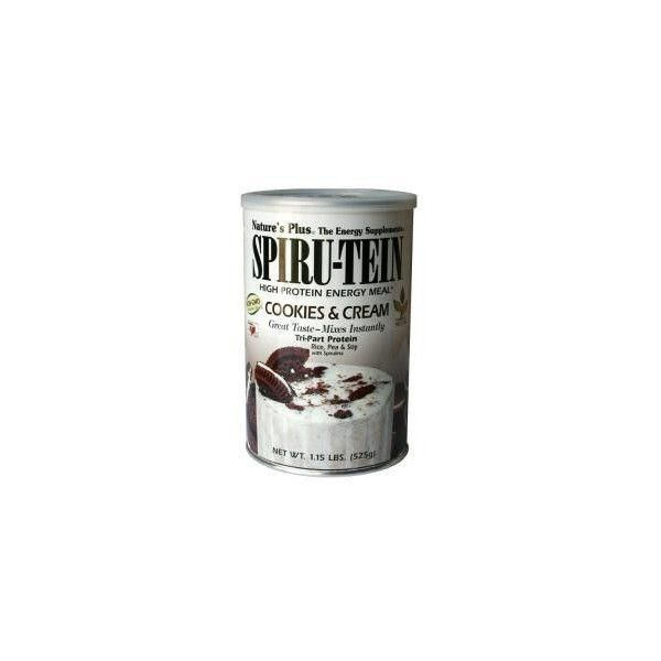 Batido Spiru-Tein Cookies & Cream, 525 g - Natures Plus