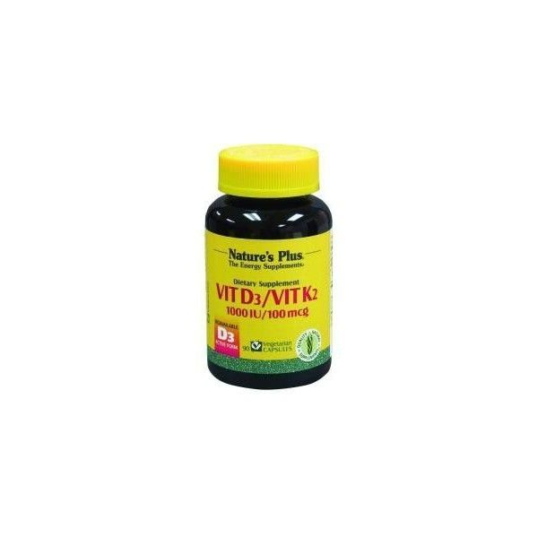 Vitamina D3 / Vitamina K2, 90 cápsulas - Nature's Plus