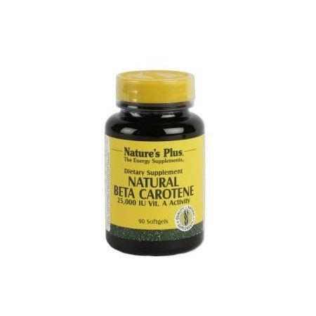 Natural Beta Caroteno, 90 perlas - Natures Plus