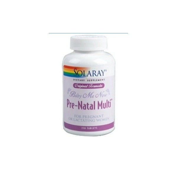Baby Me Now (Pre Natal Multi), 150 tabletas - Solaray