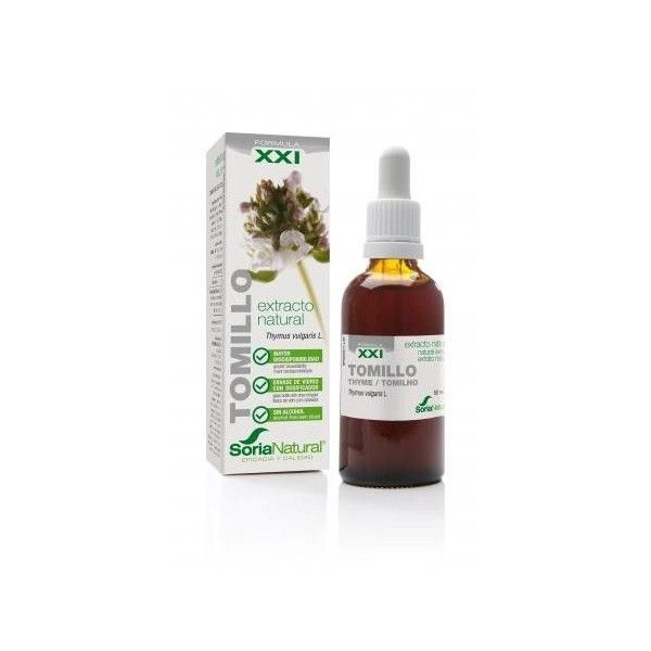 Tomillo Extracto Natural sin alcohol, 50 ml - Soria Natural
