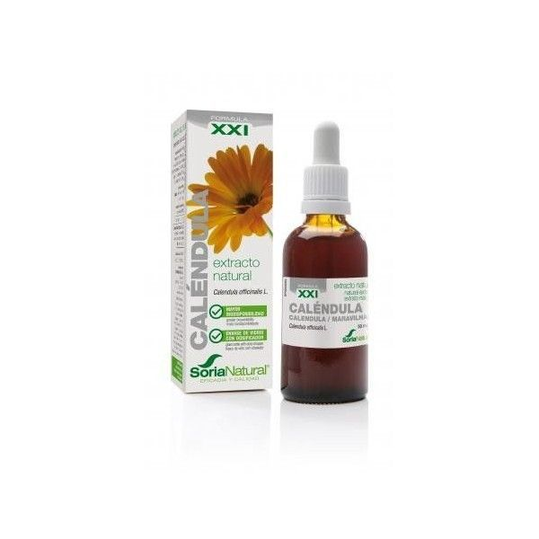 Caléndula, Extracto Sin Alcohol, 50 ml - Soria Natural