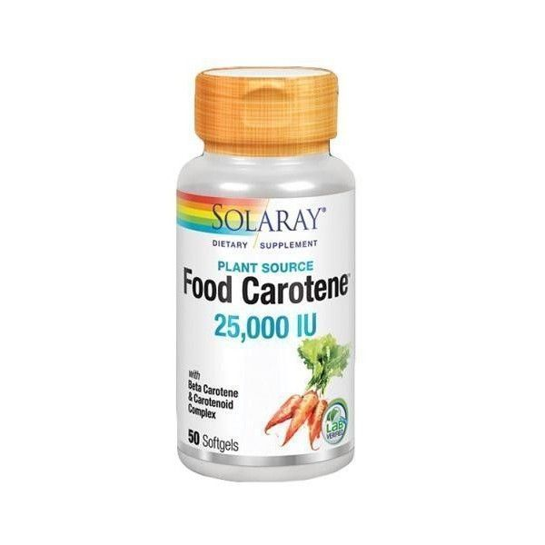 Food Carotene, 50 perlas - Solaray