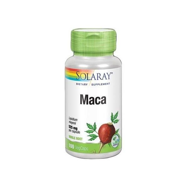 Maca 525 mg, 100 cápsulas - Solaray