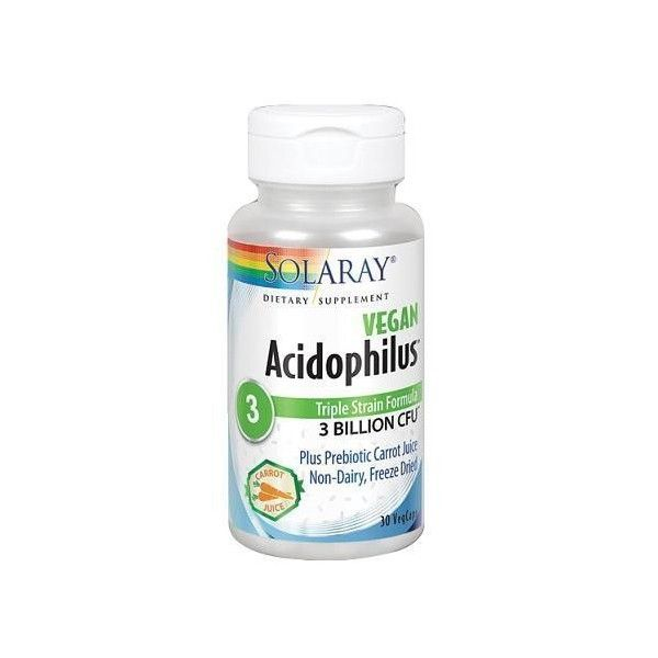 Acidophilus Plus, 30 cápsulas - Solaray
