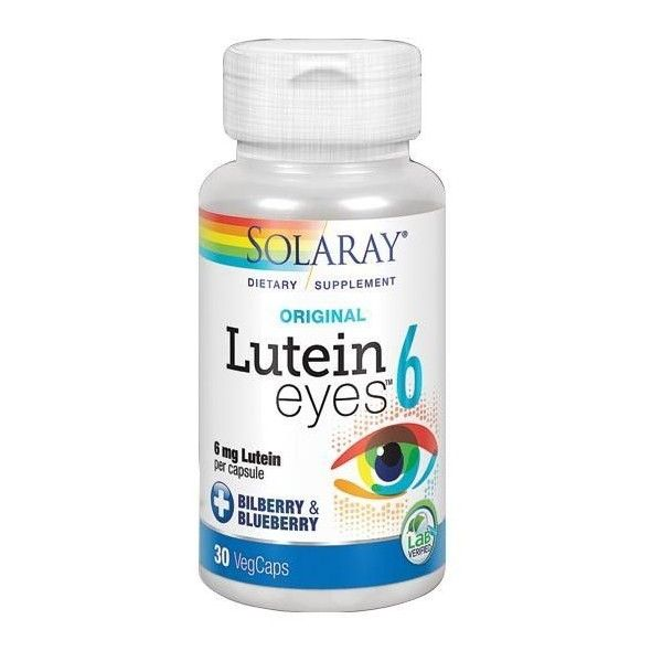 Lutein Eyes, 6 mg, 30 cápsulas - Solaray