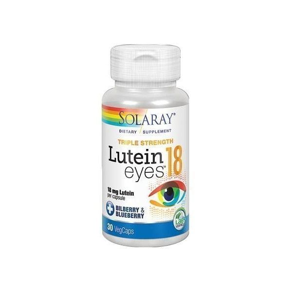 Lutein Eyes, 18 mg, 30 cápsulas - Solaray