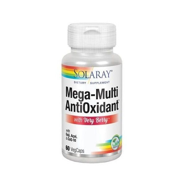 Mega Multi Antioxidant (with Very Berry), 60 cápsulas - Solaray