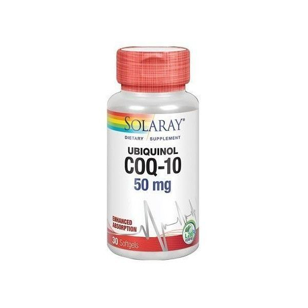 Ubiquinol Co Q10 50 mg, 30 perlas - Solaray