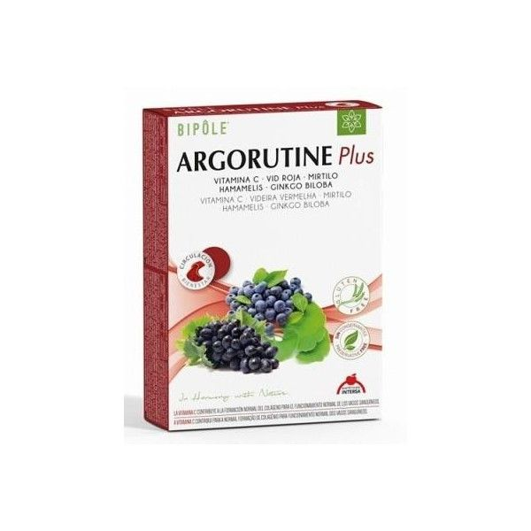 Bipôle Argorutine Plus, 20 ampollas - Intersa