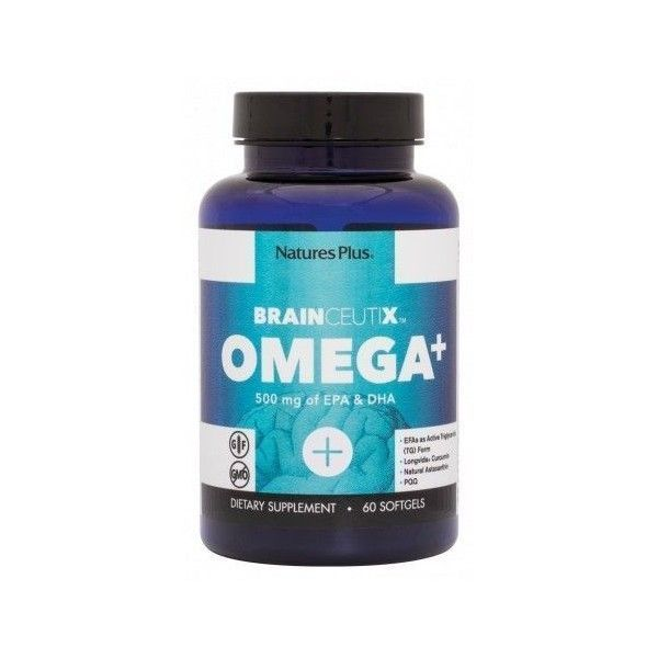 Omega 3 + BrainCeutix, 60 perlas - Natures Plus