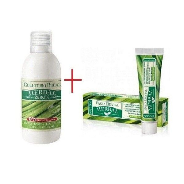 Pack Ahorro Colutorio Bucal Herbal Zero % + Pasta Dental Herbal - Natysal