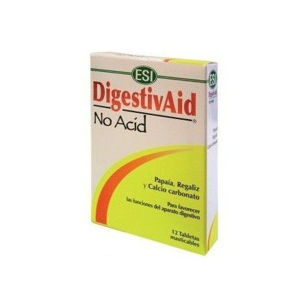 Digestivaid No Acid, 12 tabletas - Esi - Trepat Diet